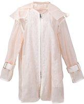 Sacai transparent oversized jacket