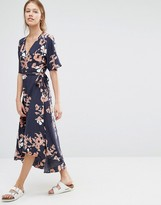 Just Female Floral Wrap Dress