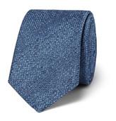 HUGO BOSS 6cm Silk And Wool-blend Jacquard Tie - Blue