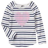Crazy 8 Heart Stripe Top