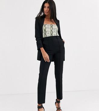 Asos Tall DESIGN Tall tailored smart mix & match cigarette suit pants-Black