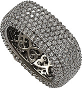 LeVian Suzy Cz Jewelry Suzy Silver Cz Square Micro Pave Eternity Ring