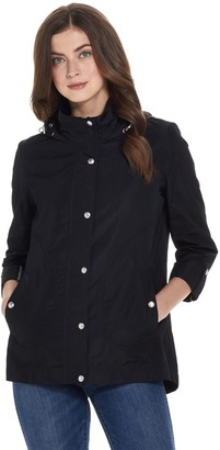 Weatherproof Hooded A-Line Jacket