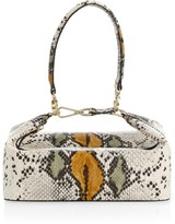 REJINA PYO Olivia Snakeskin-Embossed Leather Top Handle Bag
