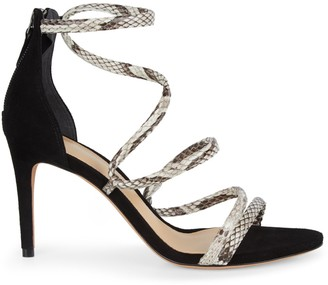 Alexandre Birman Gianny Leather Heel Sandals