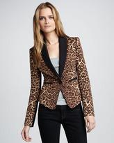 BCBGMAXAZRIA Leopard-Print Blazer