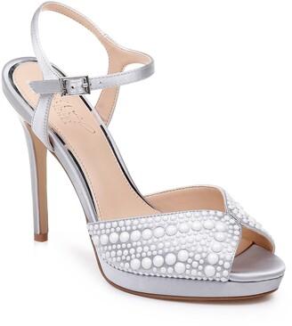 Badgley Mischka Shane Embellished Platform Sandal