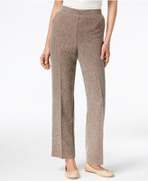 Alfred Dunner Santa Fe Collection Pull-On Checkered Pants