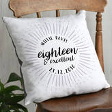 Letterfest Eighteenth Birthday Celebration Cushion