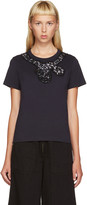 Marc Jacobs Navy Sequin Bow T-Shirt