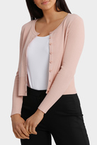 Rib Sleeve Cropped Cardigan