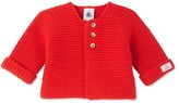 Petit Bateau Baby cardigan in wool and cotton