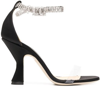 Giannico Crystal Strap Sandals