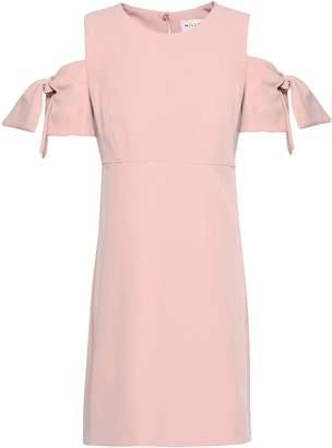 Milly Cold-shoulder Crepe Mini Dress