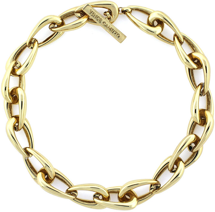 Vince Camuto Necklace, Gold-Tone Oblong Links Collar Necklace