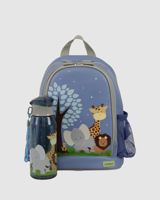 Bobbleart Small Backpack and Drink Bottle Pack Safari
