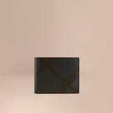Burberry Check Folding Wallet, Blue