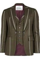 Waistcoat Jacket Brown Check