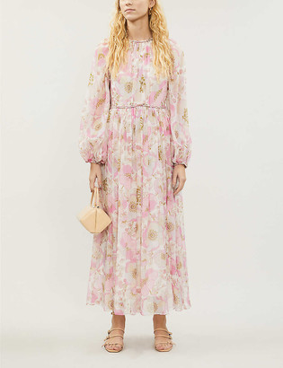 Zimmermann Super Eight floral-print silk-crepe midi dress