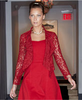 INC International Concepts Jacket, Draped Lace Open-Front