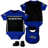 NFL Baltimore Ravens Lil Jersey 3-Piece Creeper, Bib, and Bootie Set