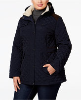 Laundry by Design Plus Size Quilted Hooded Jacket