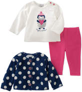 Absorba White 'Penguin Sweetness' Button-Accent Tee Set - Infant