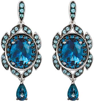 LeVian Le Vian 14K 8.00 Ct. Tw. Diamond & Blue Topaz Earrings
