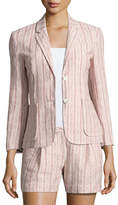 ATM Anthony Thomas Melillo Cotton Linen School Boy Blazer, Pink Pattern