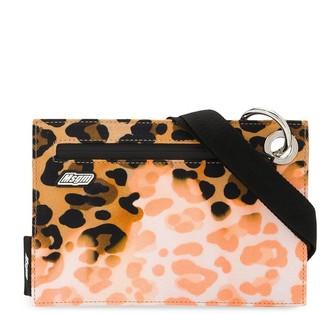 MSGM Leopard-Print Flat Messenger Bag