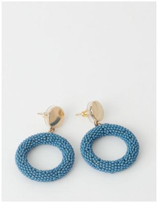 Piper Seed Bead Circle Drop Earring
