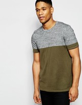 Asos Knitted Tshirt In Colour Block