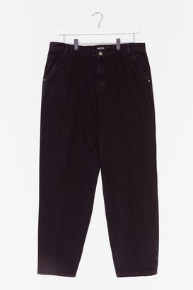 Nasty Gal Womens Put a Crop to It Plus High-Waisted Jeans - Black - 16