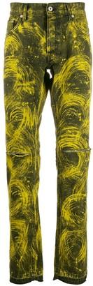 Just Cavalli Swirl Print Jeans