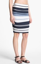 James Perse 'Pacific' Stripe Pencil Skirt