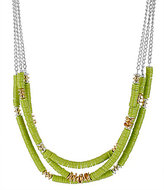 Kenneth Cole New York Urban Citrus Lime Green Bead Multi Row Necklace