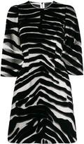 Dolce & Gabbana Zebra Print Sheer Dress