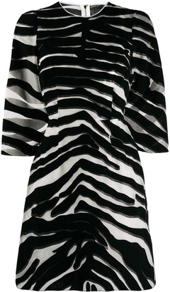 Dolce & Gabbana Zebra Print Sheer Dress