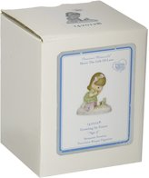 """Precious Moments 142012B Birthday Gifts, """"Growing In Grace, Age 3"""", Bisque Porcelain Figurine, Brunette Girl"""