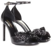 Saint Laurent Jane 105 embellished leather sandals