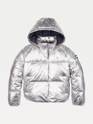 Tommy Hilfiger Metallic Hooded Padded Jacket