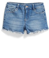 Tractr Girl's Frayed Hem Denim Shorts