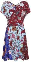 Diane von Furstenberg Cross Over Floral Mini Dress