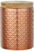 John Lewis Embossed Canister, Copper, Small