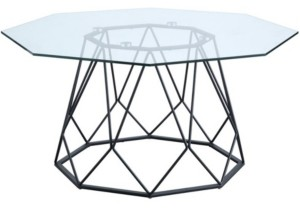 Furniture of America Trystance Glass Top Coffee Table