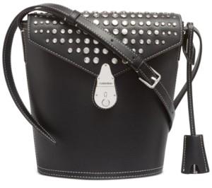 Calvin Klein Lock Leather Bucket Bag