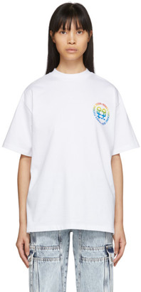 Honey Fucking Dijon White Small Rainbow Logo T-Shirt