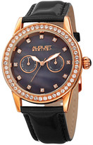 August Steiner Women&s Quartz Multi-Function Leather Strap Watch