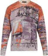 Prada Watercolour-print wool sweater