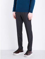 HUGO BOSS Slim-fit tapered wool trousers